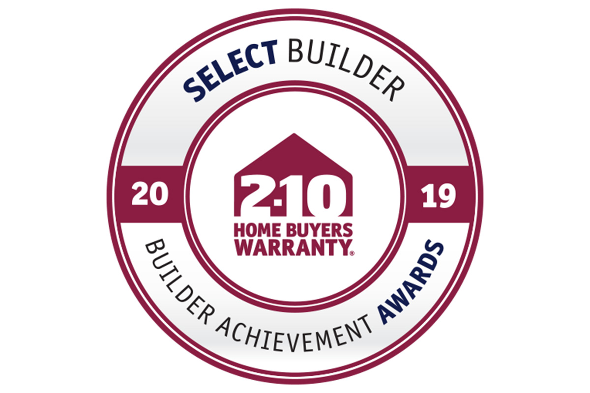 Winner! 2-10 Select Builder Award 2019